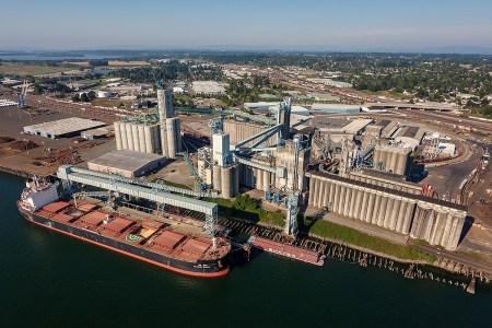 United Grain terminal business photography