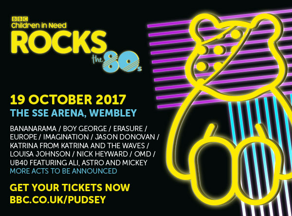19 Oct 2017: BBC Children in Need Rocks the 80s, Wembley Arena
