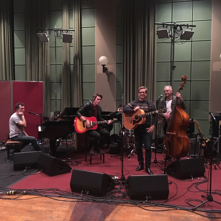 Nick Heyward and his band sound checking at the BBC's Maida Vale Studios