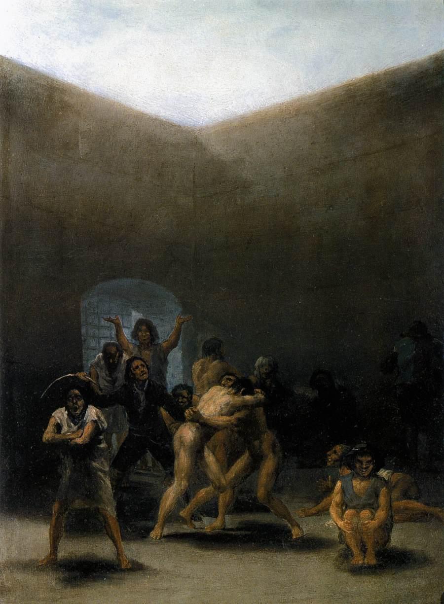 FranciscoGoya-Courtyard-with-Lunatics-The-Yard-of-a-Madhouse-1793-94