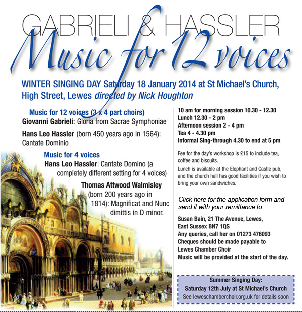 Lewes Chamber Choir Singing Day