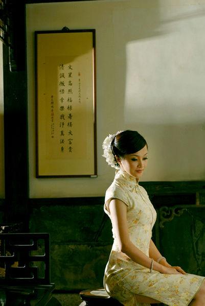 Qipao_woman, from wikimedia
