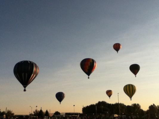 hot air balloons, Prosser, WA, 2011