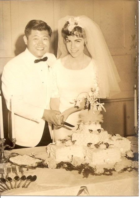 wedding, cake, Eugene and Nicki Chen, June 17, 1967