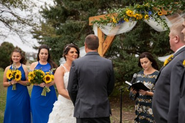 Wedding Vows at outdoor country wedding in Kasson MN by MN Photographer Nicki Joachim Photography of Owatonna Minnesota