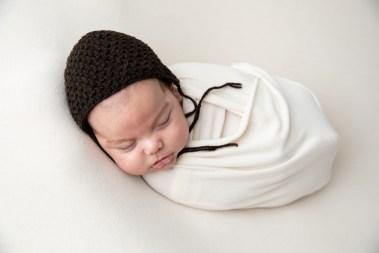 newborn baby boy in beautiful infant portrait by MN Newborn Photographer Nicki Joachim Photography of Owatonna, Minnesota (6)