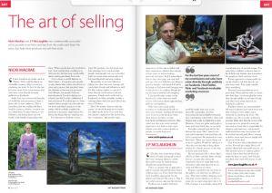 Nicki MacRae Press Coverage - Art Business Magazine - June 2012