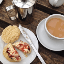 Nicki MacRae Art - Enjoying a A Cornish Cream Tea