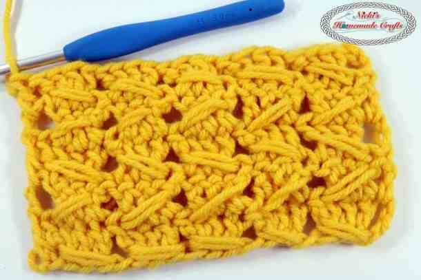 Samurai Crochet Relief Stitch