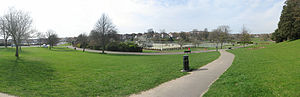 English: Panorama of Hove Park from South East...