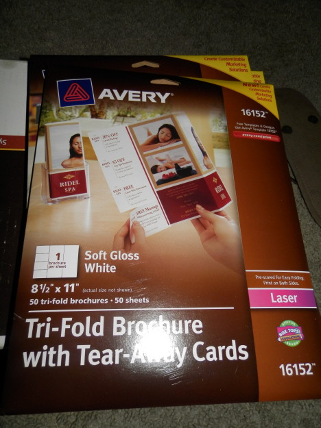 Tri-Fold Brochure with Tear-Away Cards