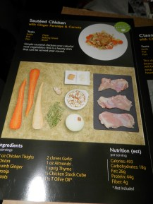 Sauteed Chicken Recipe Card