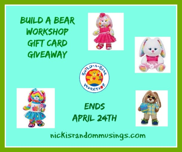 Build a bear gift card giveaway