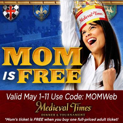 Mom Eats Free at Medieval Times