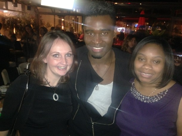 Melissa A. from A Sparkle of Genius and I with show dancer Keo.
