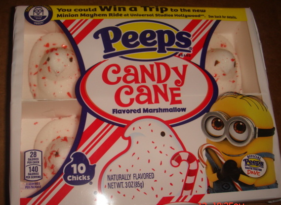 PEEPS Candy Cane Flavored Marshmallow Chicks