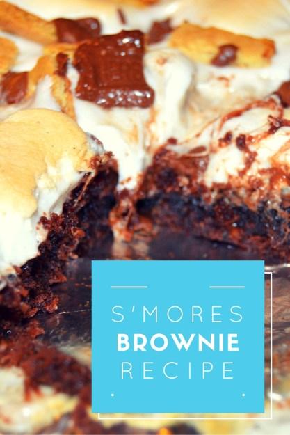 smores brownie recpie