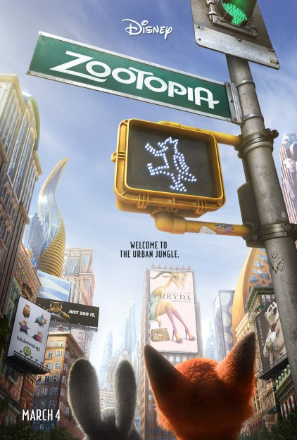 New Zootopia Movie Poster