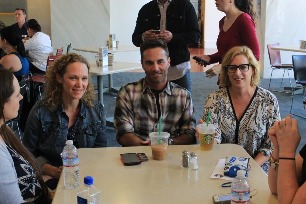 The Real O'Neals Executive Producers Casey Johnson, Stacy Traub, and David Windsor.