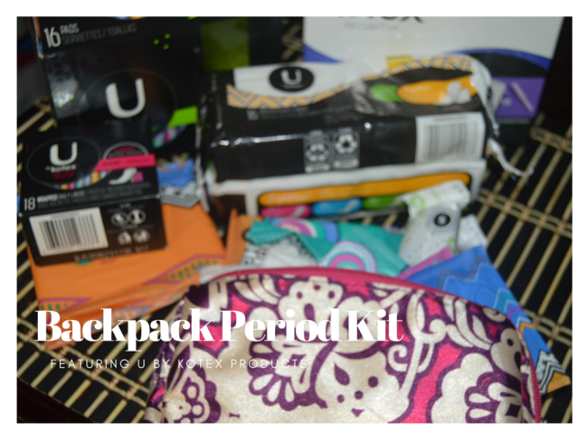 Prepare for the Unexpected with this Backpack Period Kit #ad #UBKForMe