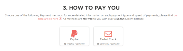 choose how you get paid giving assistant