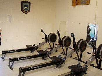 English: A row of Concept2 Indoor rowers. Phot...