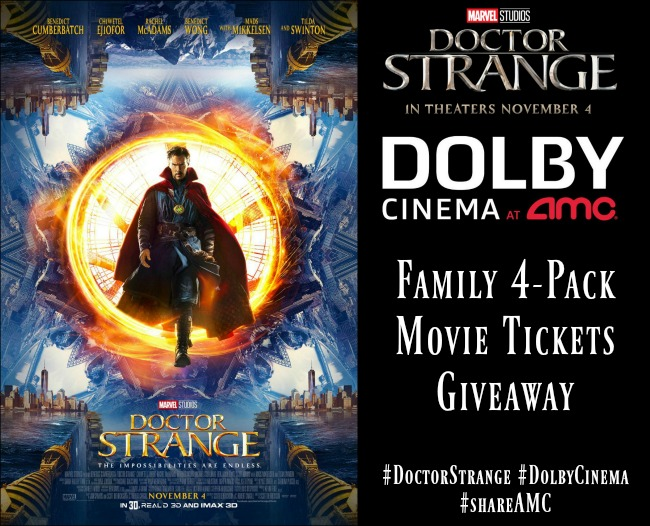 Marvel's Doctor Strange Movie Ticket Giveaway with #DolbyCinema at AMC #ShareAMC