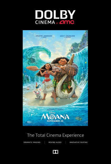 Disney's Moana Coming to Dolby Cinema at AMC #shareAMC #Moana #DolbyCinema