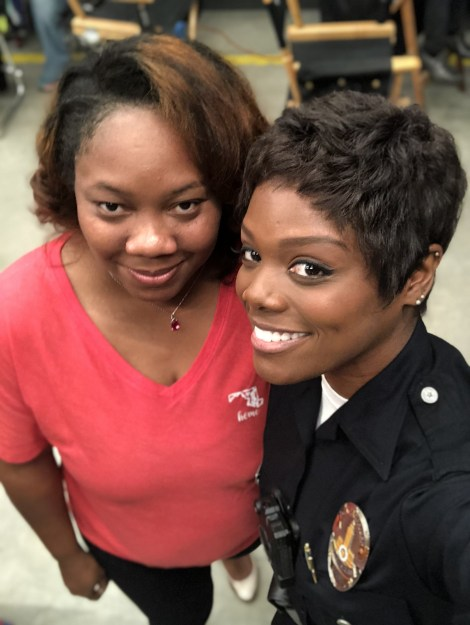 Nickida on the set of ABC's The Rookie
