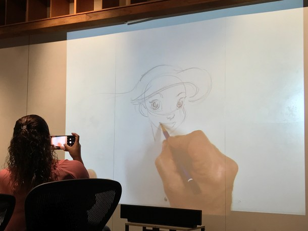Mark Henn drawing Ariel - #RalphBreakstheInternetEvent