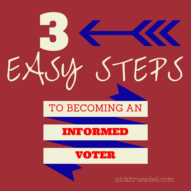 how to become an informed voter