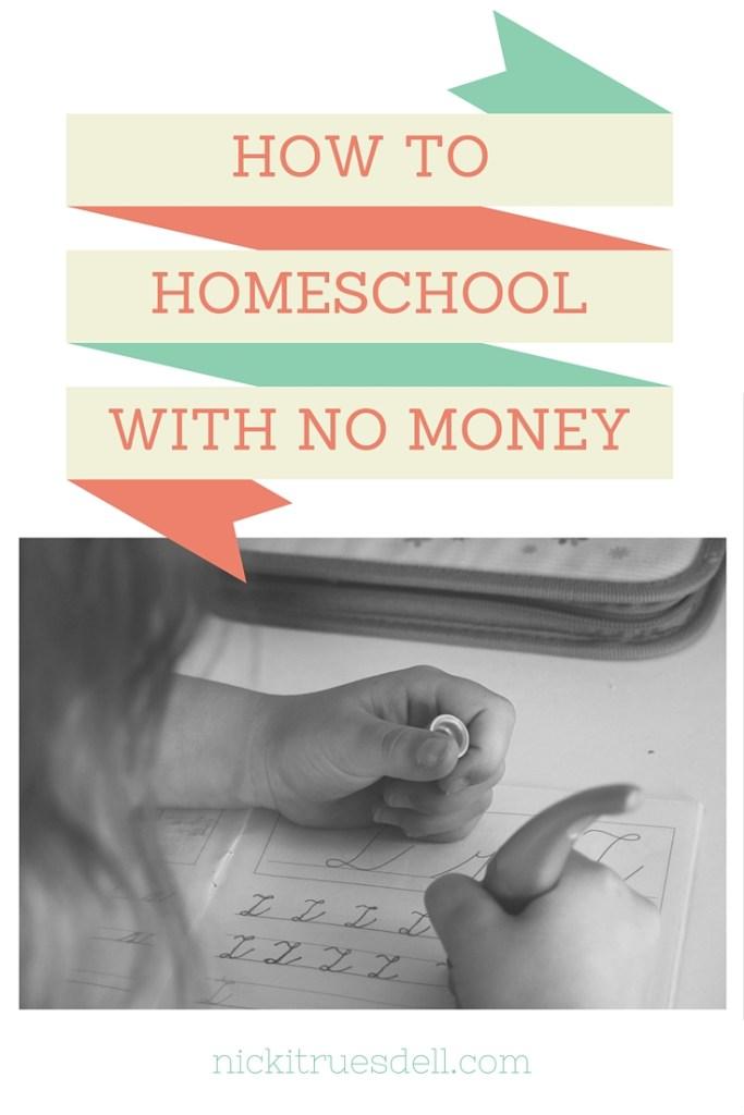 homeschooling when you're broke