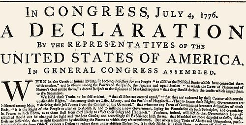 History of the Declaration of Independence