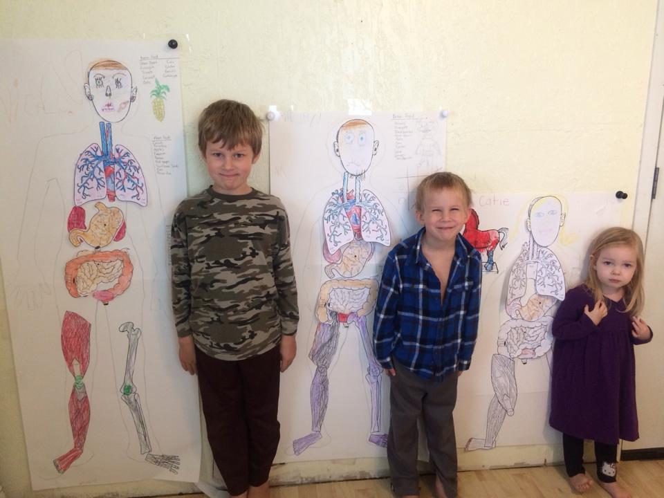 Human Body science activity with little kids