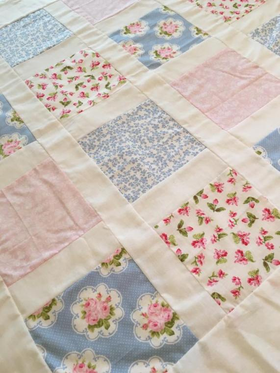 shabby baby quilt