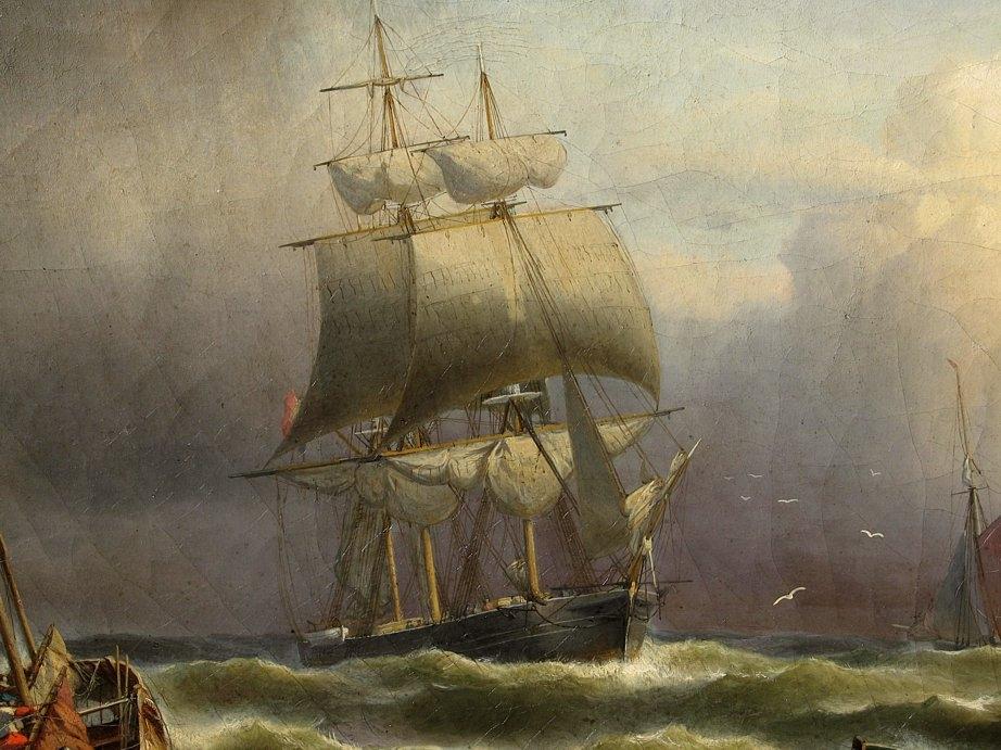 Franz Huenten (1822-1887) - Shipping off Ostend