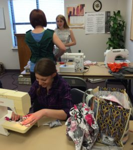 sewing class homeschool co-op