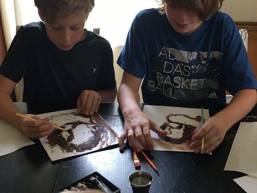 Rembrandt painting lesson