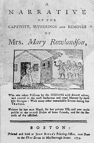 The Book of Mary Rowlandson's captivity and rescue