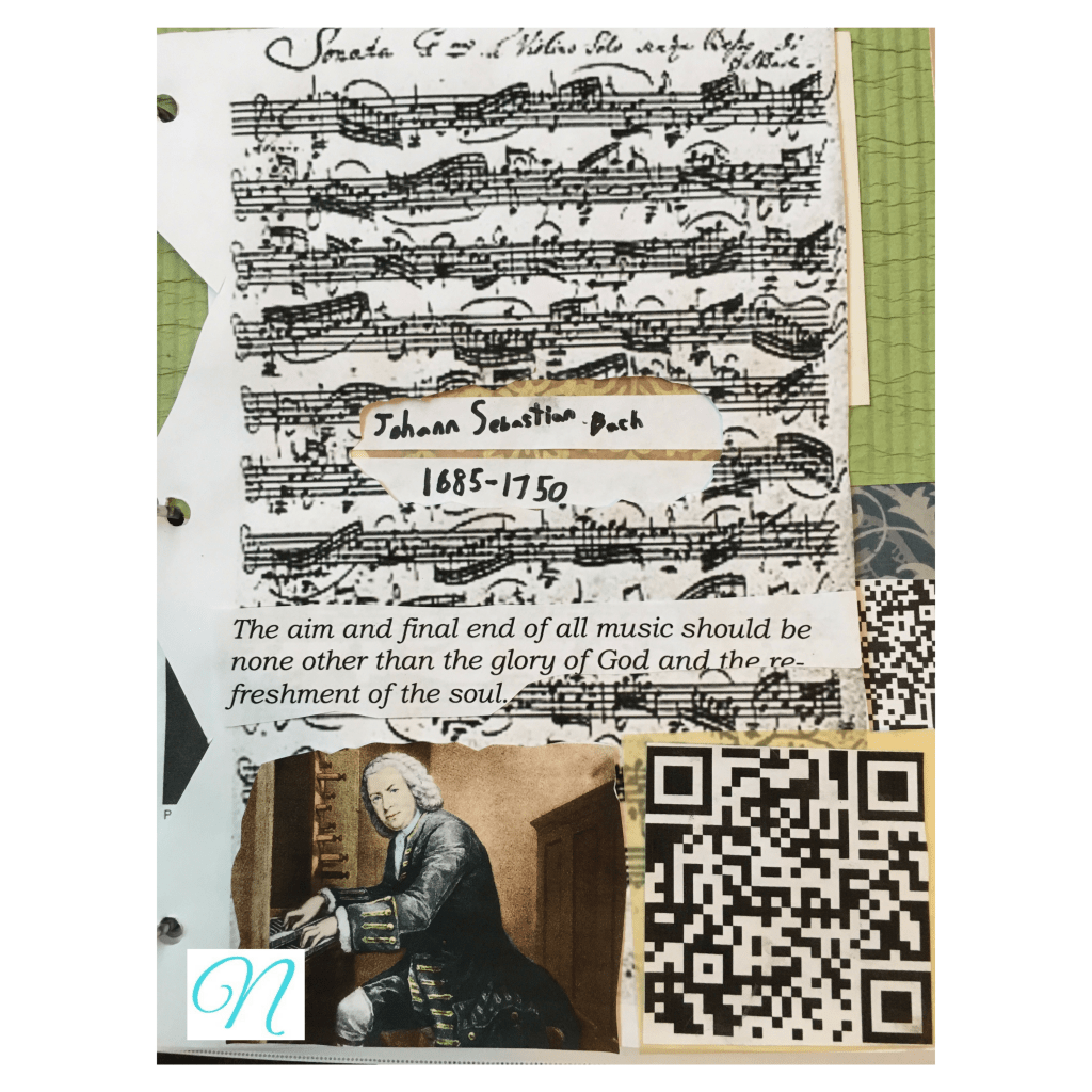 Bach notebooking page