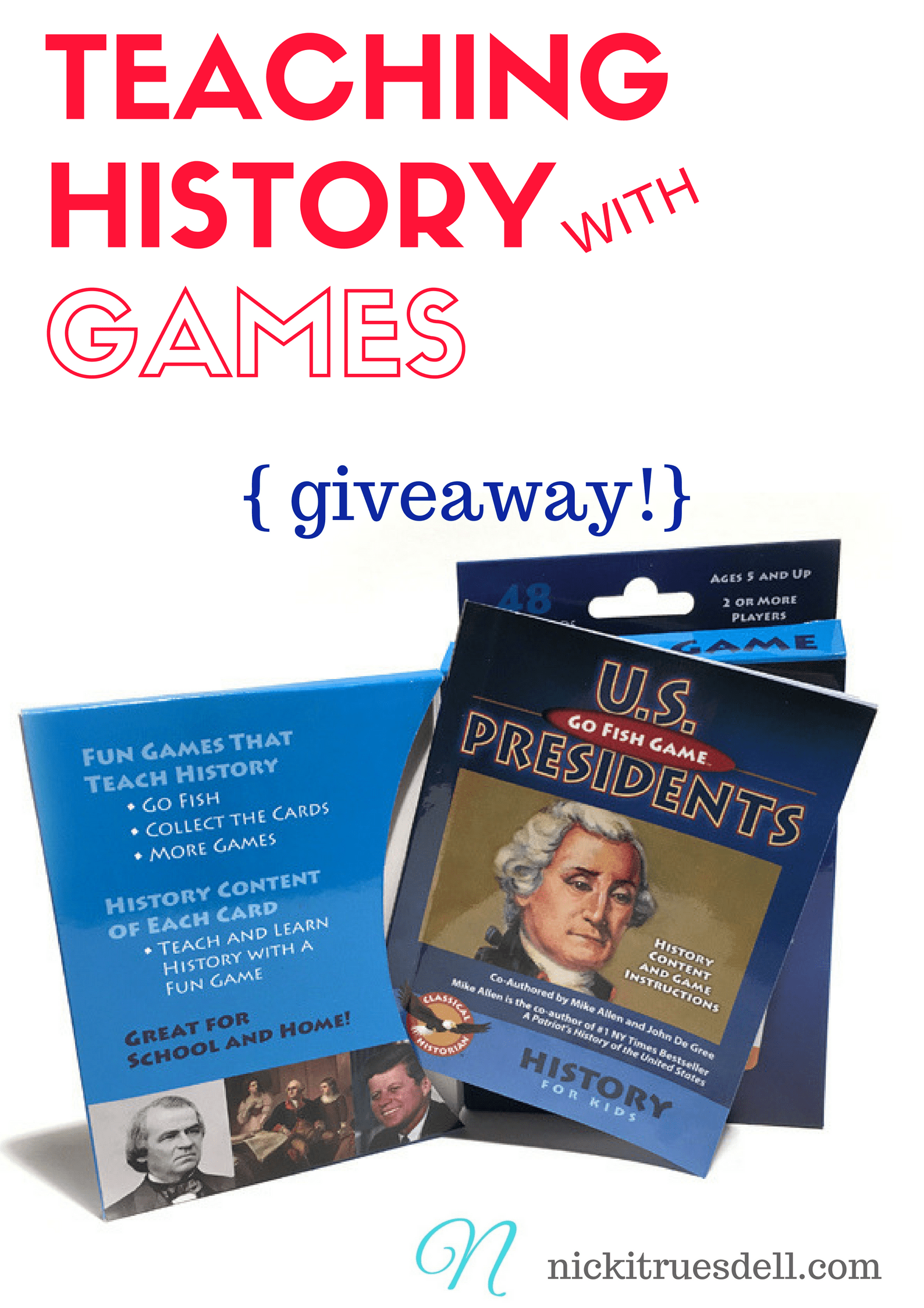 Imagine playing Go Fish with Presidents cards, Ancient History cards, or U. S. Constitution cards! THAT is what you get with games from The Classical Historian.