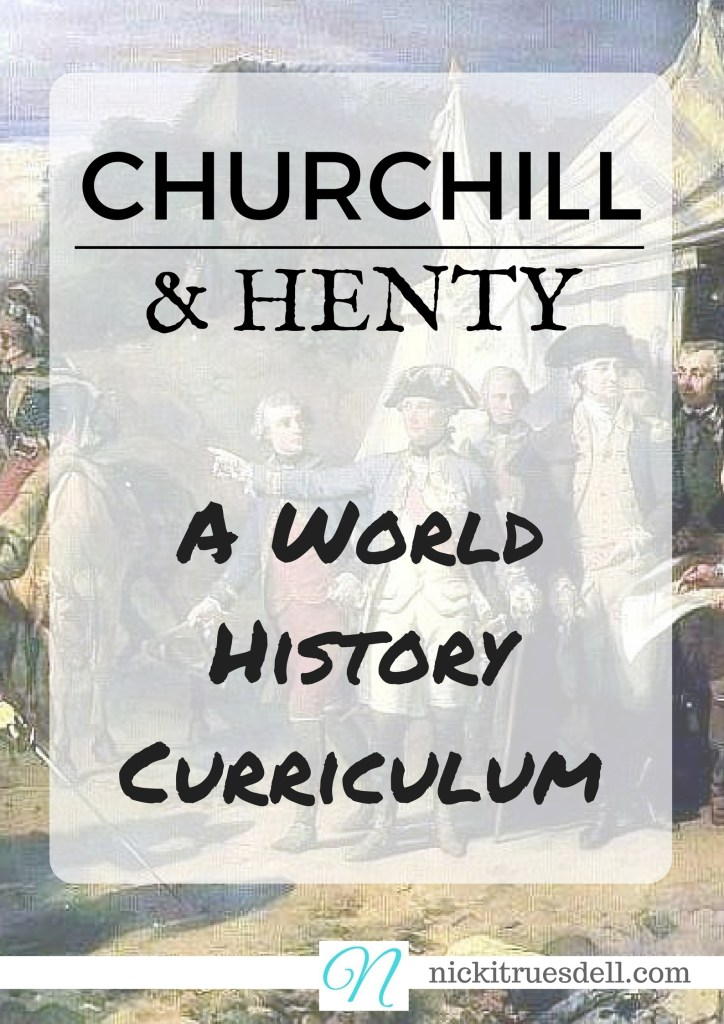 Winston Churchill and G. A. Henty have a vast amount of incredible work covering 2000 years of history. Check out my FREE guide to using it for your homeschool...