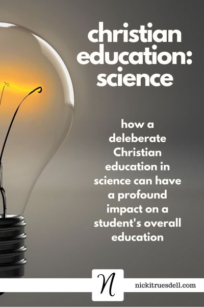 Christian education: science