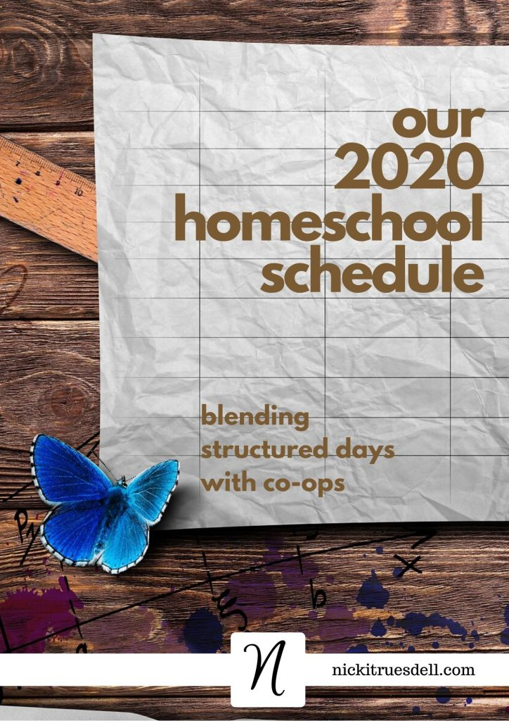 Our 2020 homeschool schedule - from a 20-year veteran homeschool mom