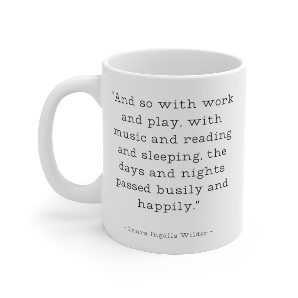 Laura Ingalls Wilder coffee mug