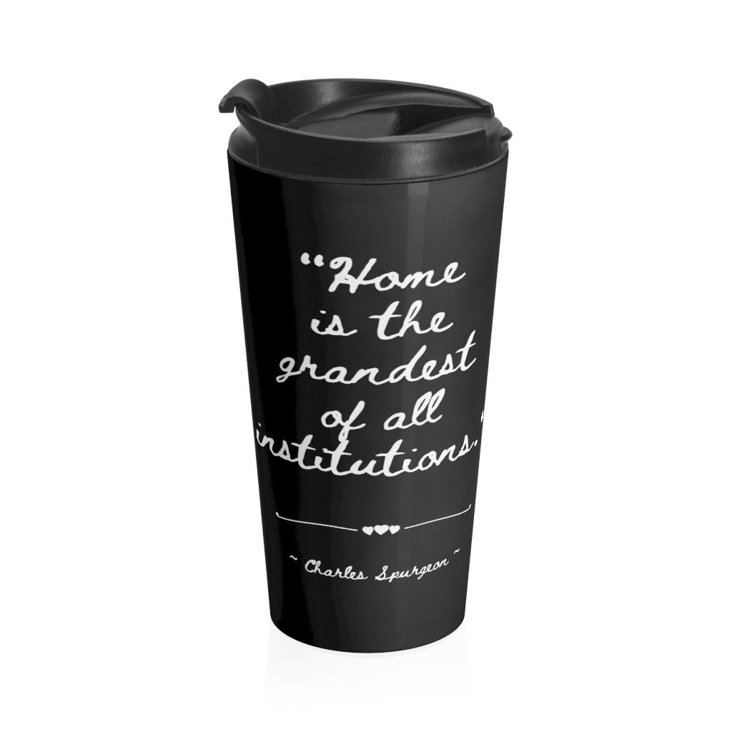 Charles Spurgeon BLACK Stainless Steel Travel Mug