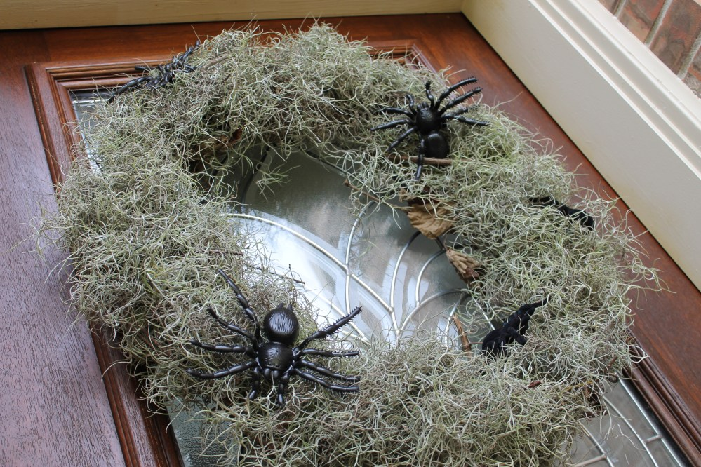 Spanish Moss Halloween Wreath