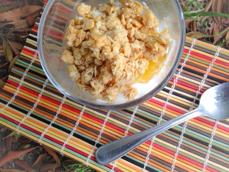 Quick Breakfast! Vanilla Yogurt Parfait with Lemon And Raspberry