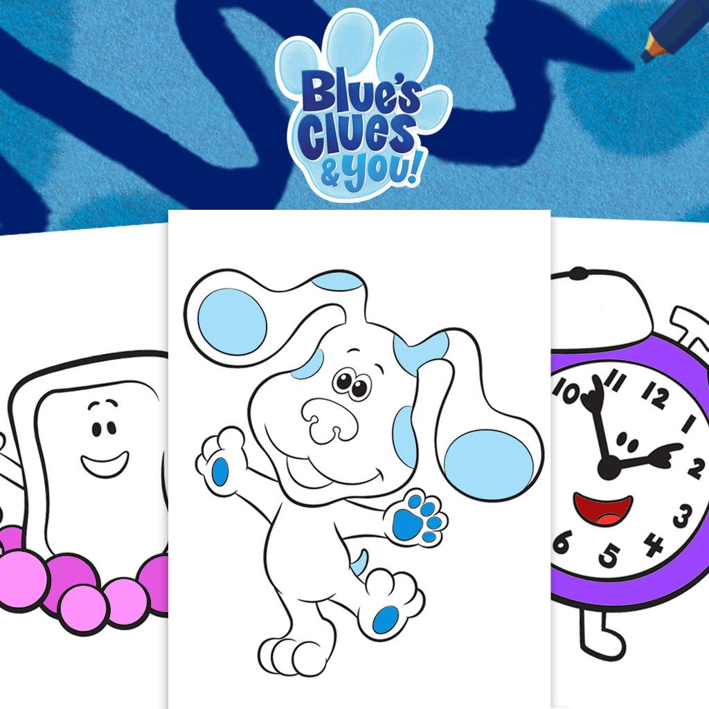 Blue S Clues You Colouring Pack