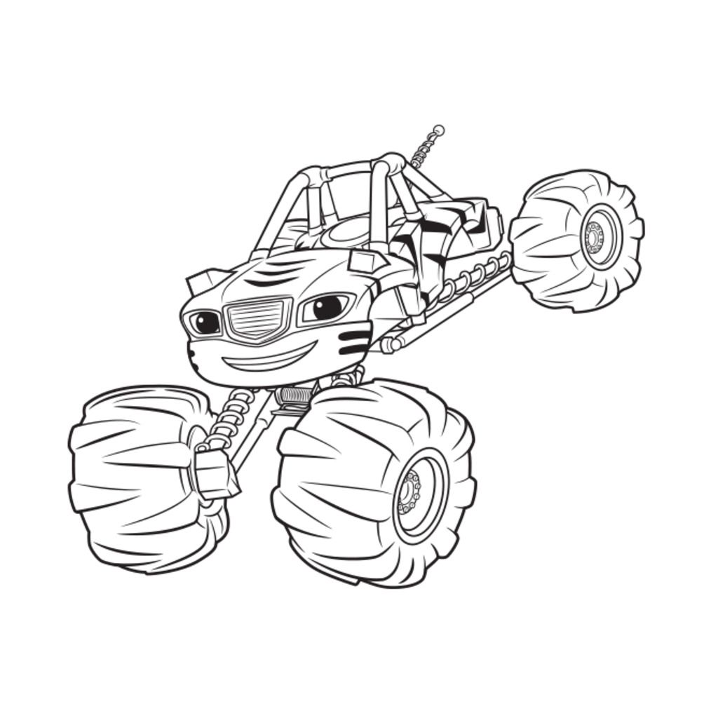 Blaze And The Monster MachinesStripes Colouring Pages